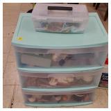 Mint Green Plastic Compartment Organizer