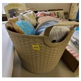 Basket of Assorted Lace