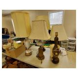 Lot of Mid Century & Vintage Lamps
