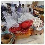 2 Large Boxes of Decorative Wreaths