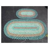 Grouping of 2 Rag Rugs