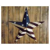 Rustic Tin Patriotic Star Decor