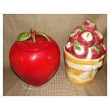 2 Apple Cookie Jars