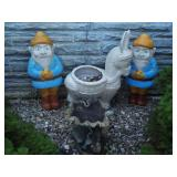 Gnome Blowmolds, Donkey Planter Grouping