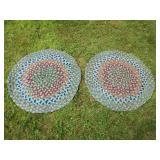 2 Circle Rag Rugs