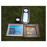 3 Electric Clocks & Picture Grouping