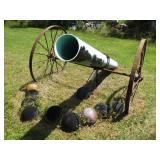 Makeshift Cannon, Antique Wagon Wheels