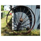 Antique Metal Wagon wheel