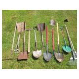 Shovels, Rakes, Sledgehammer Grouping