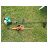 "16"" Hedge Trimmer + Weed Wacker"