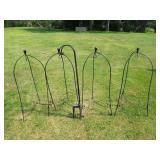 4 Basket Hangers & 4 Sheppard Hooks Grouping