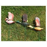 3 Outdoor Bird Decoratives