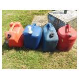 4 Gas & Kerosene Cans