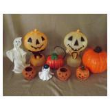 Hallowen Blow Molds & Ceramics Grouping