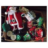 Large Box of Assorted Christmas Decorations