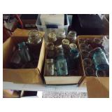 3 Boxes of Assorted Mason Jars