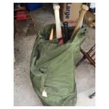 Army Duffle Bag & Baseballs