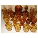 Assorted Ember Glass Grouping