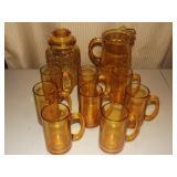 Ember Pitcher & Glasses + Jar