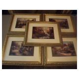 5 Thomas Kinkade Prints
