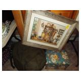 Army Bag, Flower Box, Picture, Blanket Grouping