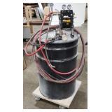 Wagner Pneumatic Adhesive Pump on 55 Gal. Drum