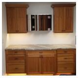 3-Cherry Cabinets & Granite Top