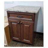 """Marble Top Solid Wood Cabinet 27""""w, 26""""d, 36""""t"""