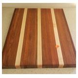 Solid Wood Cutting Board 1.5x18x14.5- Tight Crack