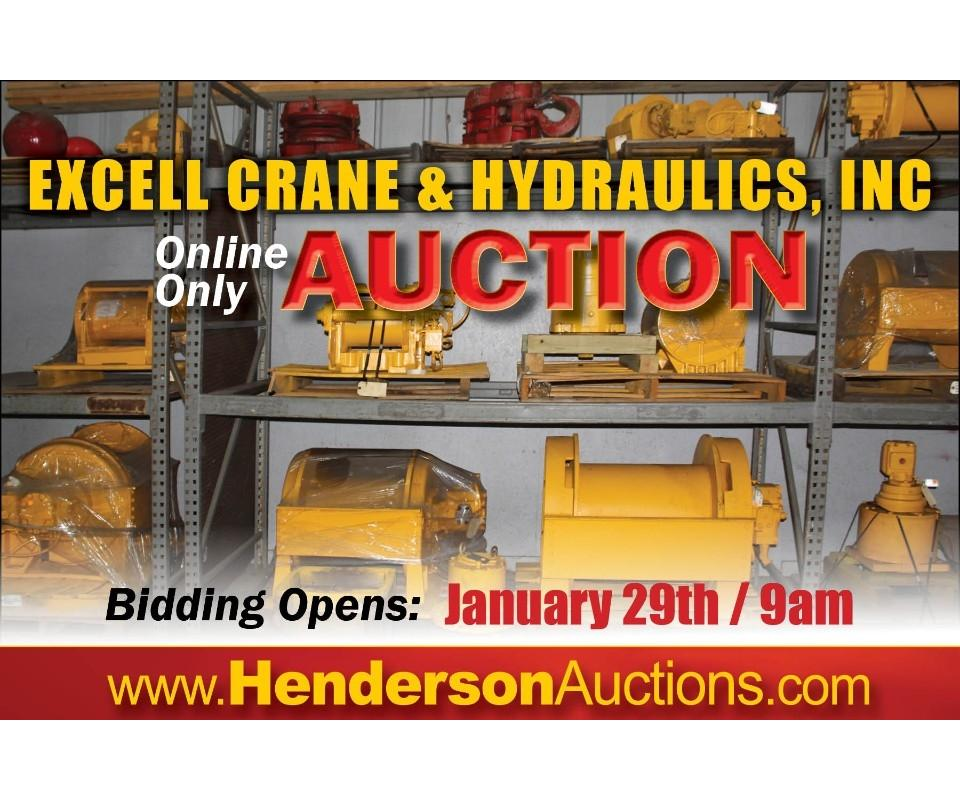 excell crane hydraulics inc complete liquidation auction