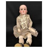 """Kestner K 1/2, 14 1/2 German Doll, 26"""" (no eyes)"""