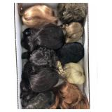 Lot of 10 Synthetic Hair Doll Wigs
