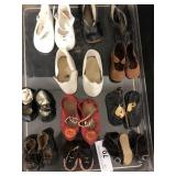 Lot - 10 Pairs of Doll Shoes