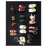 Lot - 12 Pairs of Miscellaneous Doll Shoes