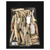 Lot - Misc. Doll Arms w/ Cloth & Leather
