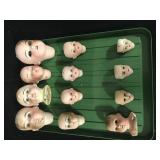 Lot - Misc. Doll Heads (damaged)