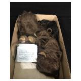 Lot - 6 Human Hair Doll Wigs & 2 Envelopes of