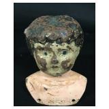 Minerva German Metal Doll Head