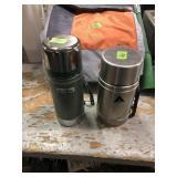 2 THERMOS & A ROLLING INSULATED COOLER