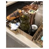 3 BX OF MISC W/ CANDLESTICKS, SILVERWARE & OTHER