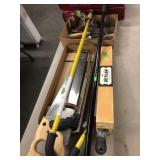 GROUP OF MISC. TOOLS & SAWS