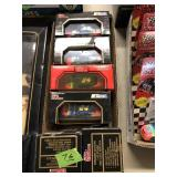 MR MURLAND LUNCH BOX & 6 NASCAR 1:43 DIE CAST CARS