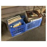 2 BASKETS OF LP RECORDS