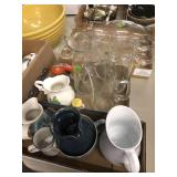 3 BX OF GLASSWARE W/ WATER SET, VASES & OTHER