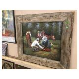 COWBOY PICTURE W/ BARN WOOD FRAME