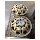 SET OF 4 EIGHT HOLE ALLOY TRUCK WHEELS W/ CENTER