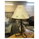 IRON BASE TABLE LAMP
