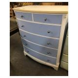 ANTIQUE PAINTED 6 DRAWER CHEST