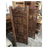 CARVED WOODEN DRESSING SCREEN