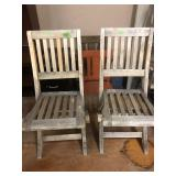 2 VINTAGE CHILDS FOLDING CHAIRS
